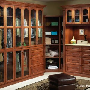 A Floor Mounted Closet With Glass Doors And An Arched Cathedral Style Design In Powell