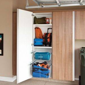 A Garage Cabinets With A Back In Upper Arlington
