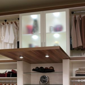A Walk In Closet With A Back