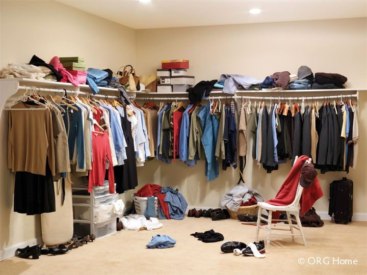 An Existing Unorganized Closet