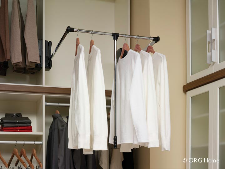 Pull Down Wardrobe Rod For A Universal Or Accessible Closet Design Innovate Home Org Columbus