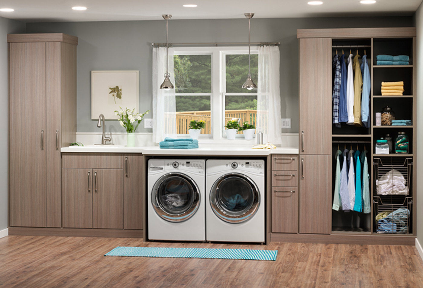 Laundry room cabinet accessories innovate home org for Laundry home