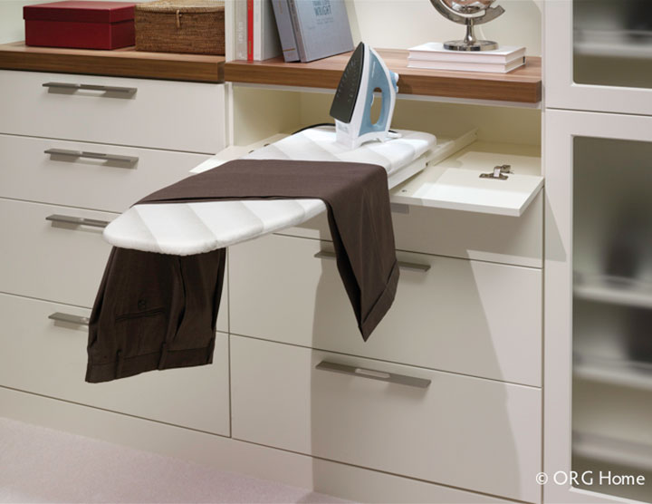 Pull Out Swively Ironing Board In A Custom Closet   Columbus And Cleveland  Ohio