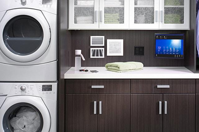 Custom Laundry Cabinet Finishes