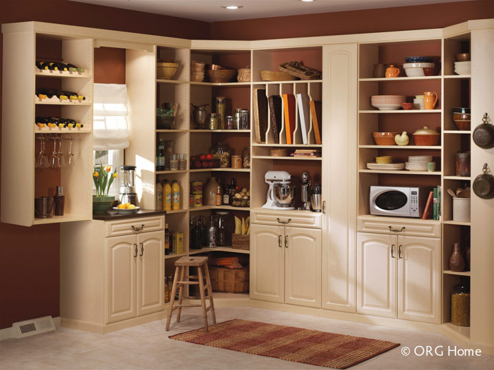 Columbus pantry organization cabinets shelving for Walk in pantry cabinets