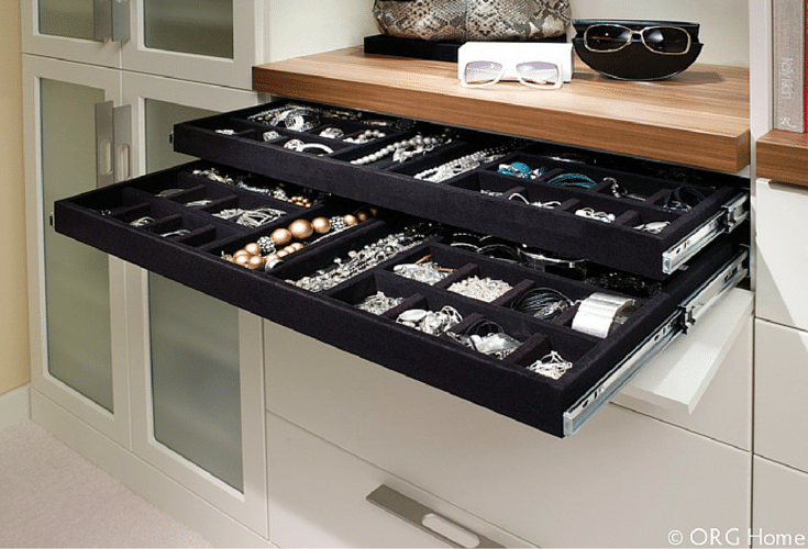 Jewelry drawer and tray storage Innovate Home Org Columbus Ohio