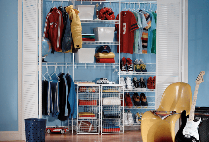 Wire Shelving In A Reach Closet Innovate Home Org Columbus