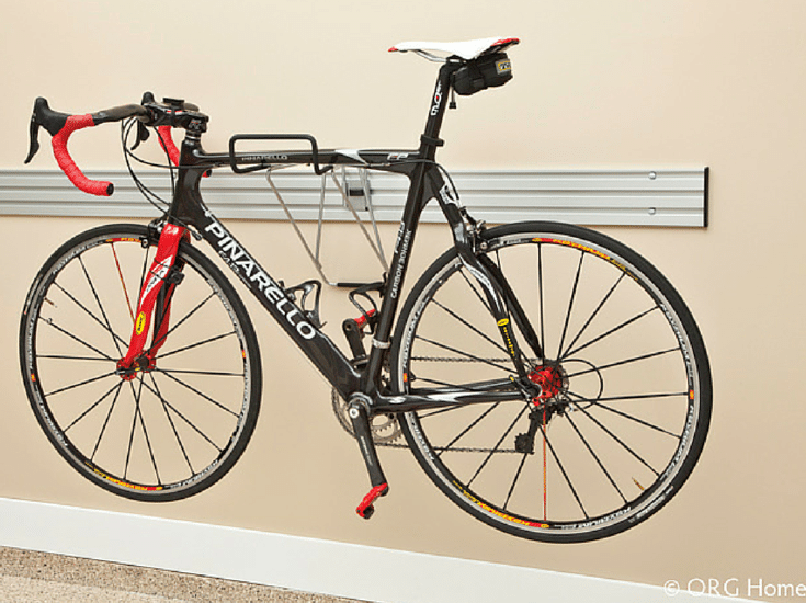 Storage wall system to hold a bike in Columbus Ohio