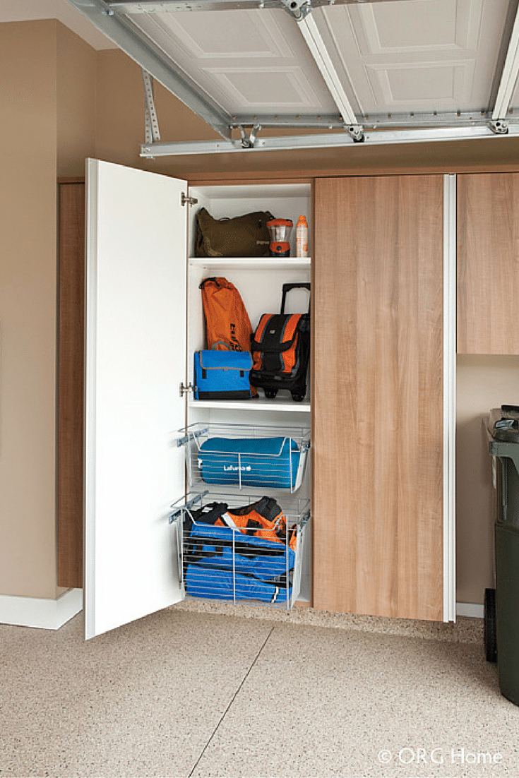 Garage cabinets to keep toxic products away from children
