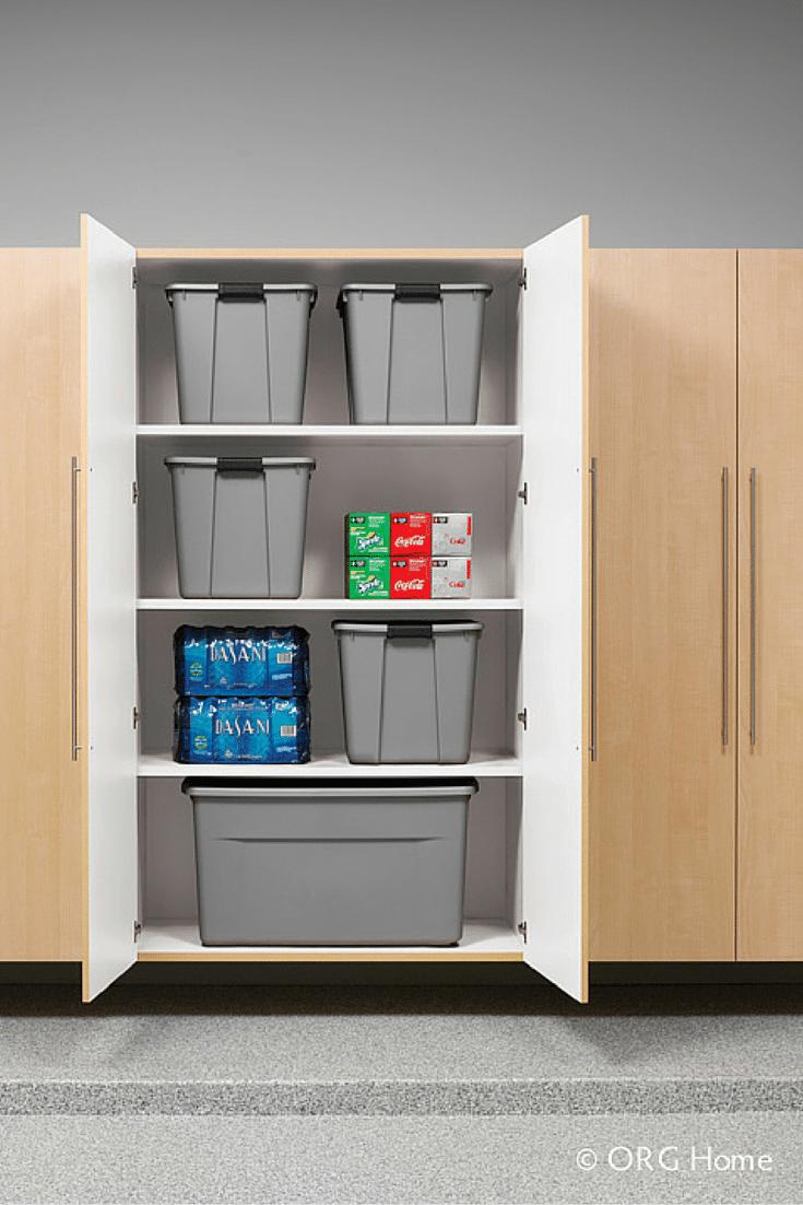 Garage cabinets with storage bins in Columbus