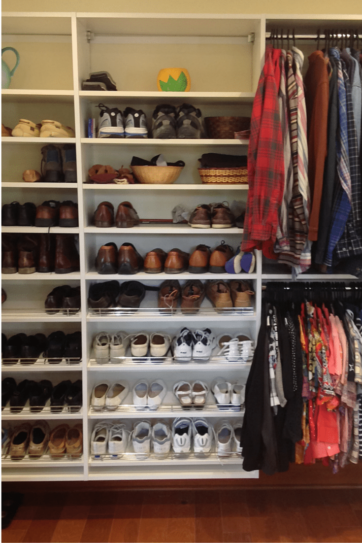 Make sure closet depth are deep to handle shoe storage - universal design closet in Columbus Ohio