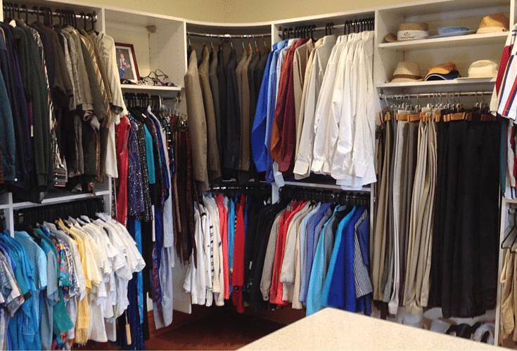 Desiging the length of hanging closet rods in a custom universal design closet in columbus ohio