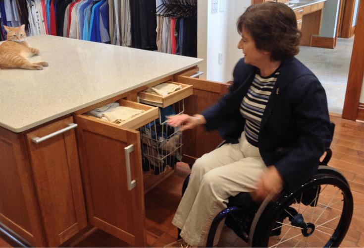 universal design roll in closet in columbus ohio