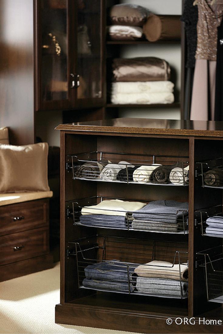 spacing of shelves for a custom walk in closet