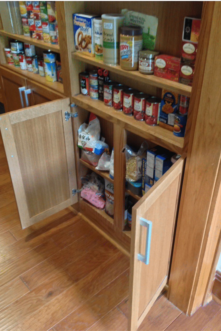 6 inch deep pantry storage area in a universal design roll in pantry in columbus ohio
