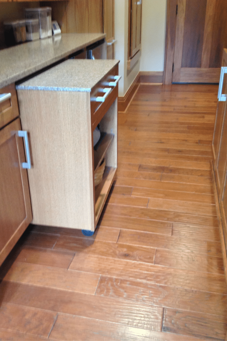 rolling cart in a universal design roll in pantry at the Universal Design Living Laboratory in Columbus Ohio