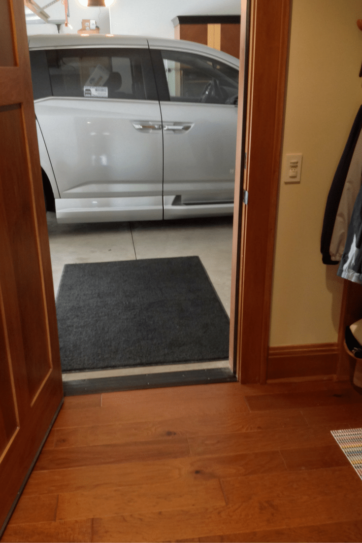 One level garage entry for a roll in pantry and entryway in columbus ohio
