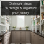 5 Simple Steps to Design and Organize Your Kitchen Pantry