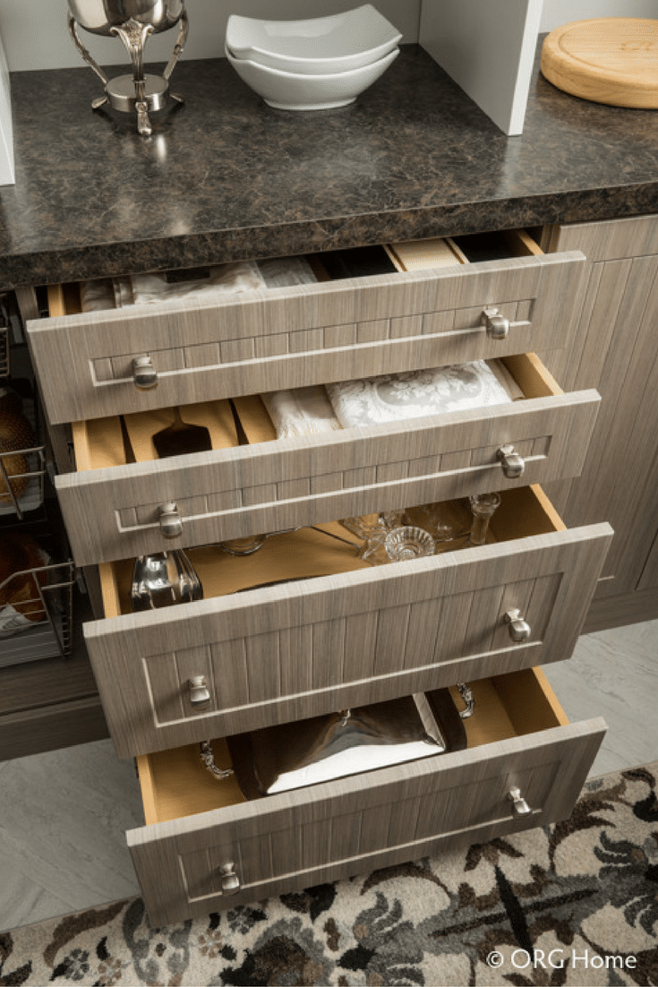 kitchen pantry cabinet drawers can hide the clutter