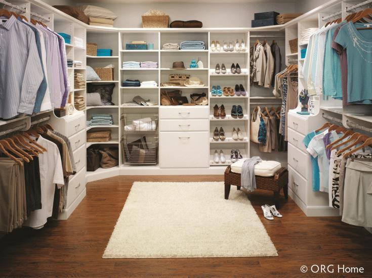 shoe storage in custom columbus closet