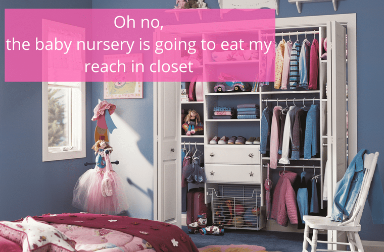 Oh No The Baby Nursery is Going to Eat My Reach in Closet