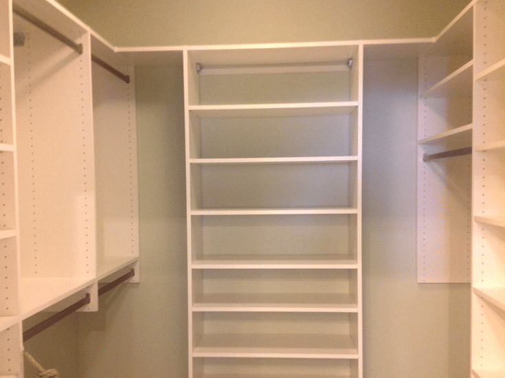 A Closet Design With No Drawers For Lower Costs