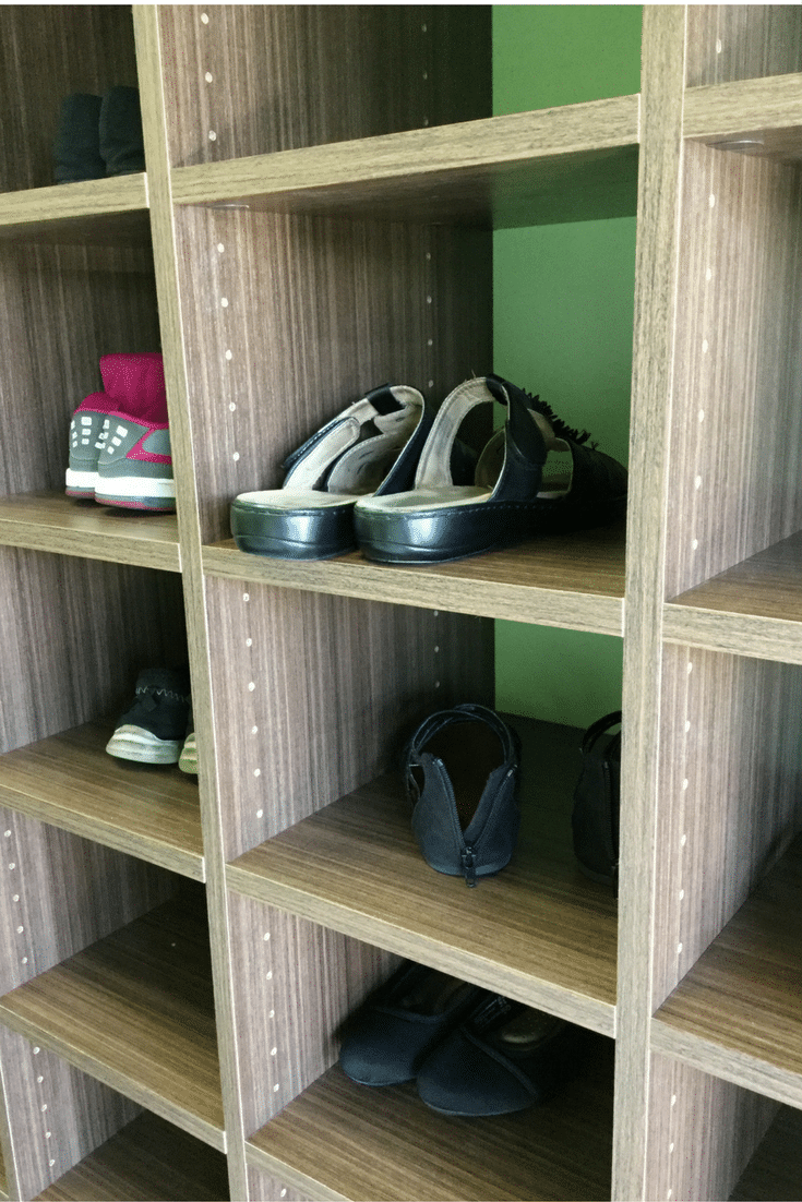 Adjustable Shoe Shelving In A Columbus Premium Custom Closet
