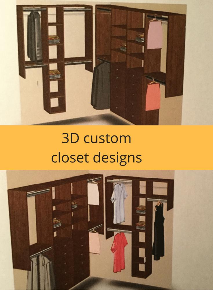 Columbus custom 3D closet design to combine two closet into one master closet @InnovateHomeOrg