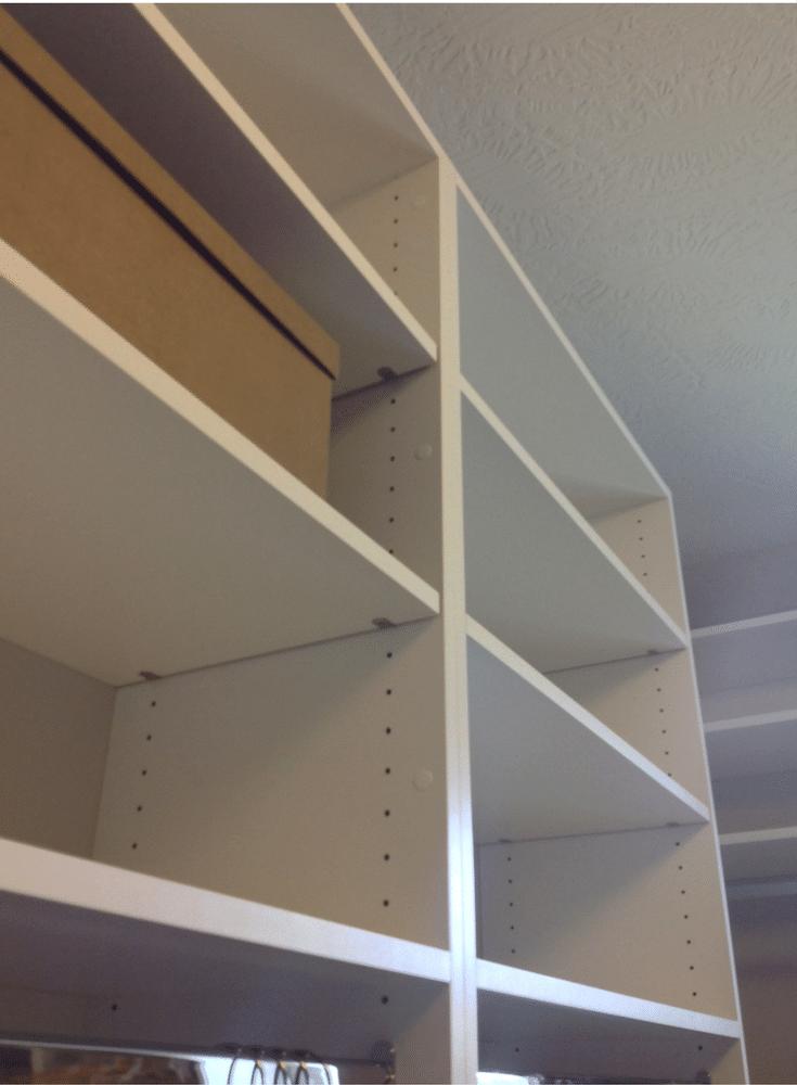 More shelving in a Columbus closet design @InnovateHomeOrg