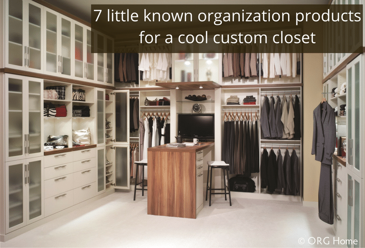 7 little known organization products for a custom closet | Innovate Home Org
