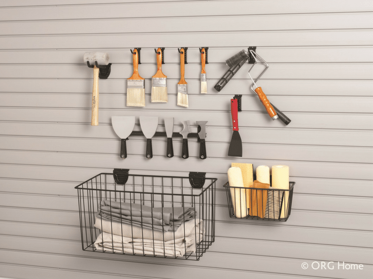 Baskets for extra storage in a garage - Innovate Home Org Columbus Ohio
