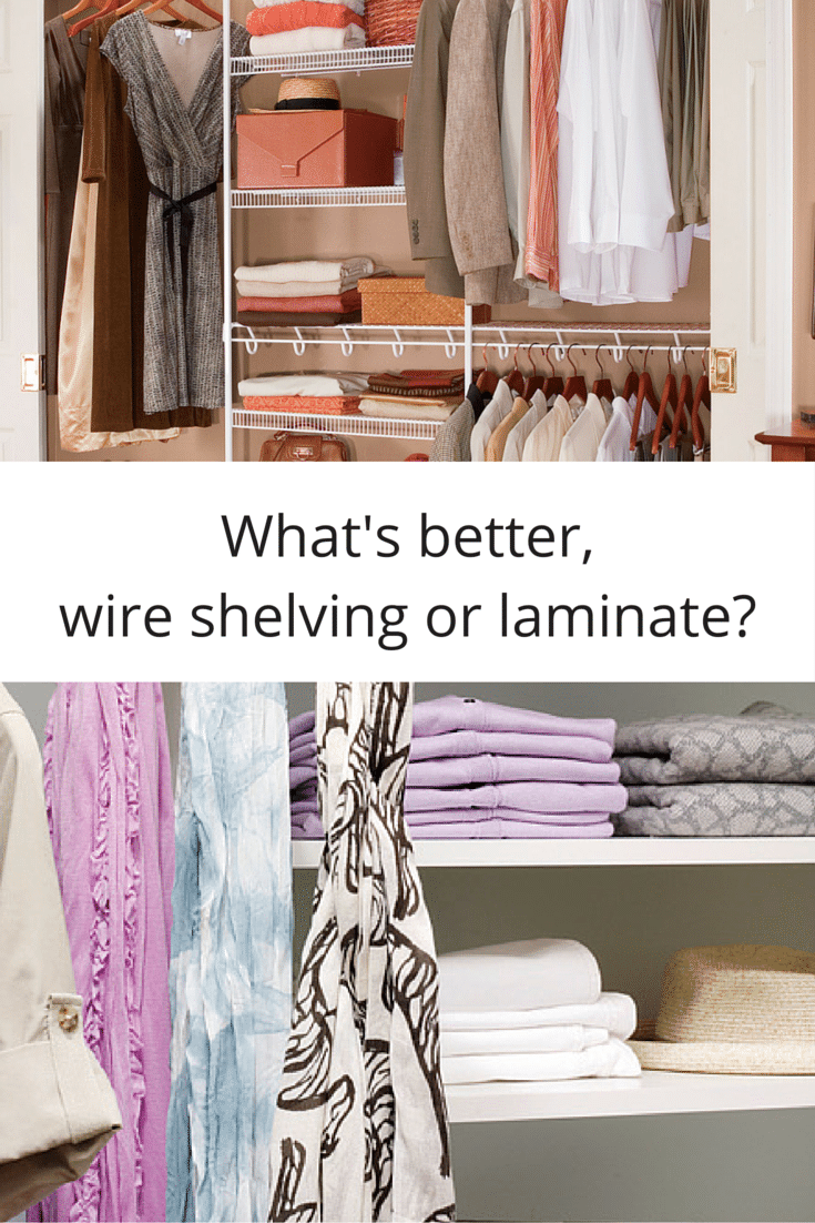 7 factors to compare wire shelving vs. a laminate closet system | Innovate Home Org Columbus Ohio