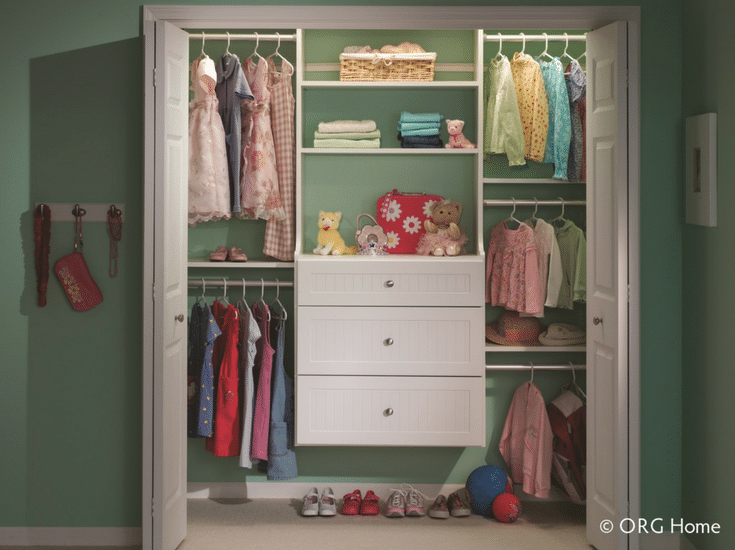 Double and triple hanging clothes organizer systems work for different aged kids. Triple hanging sections are best for toddler and double hanging for teens| Innovate Home Org Columbus Ohio