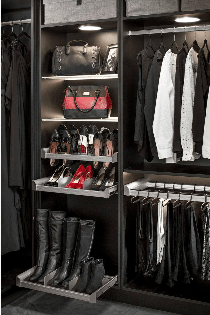 Shoe organizer systems for a custom closet in Columbus Ohio | Innovate Home Org