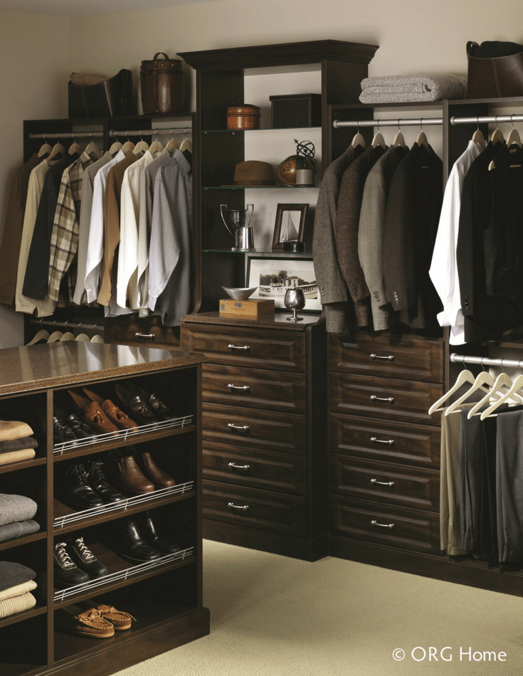 Wood closet organizer systems and laminate ones look very similar | Innovate Home Org Columbus Ohio