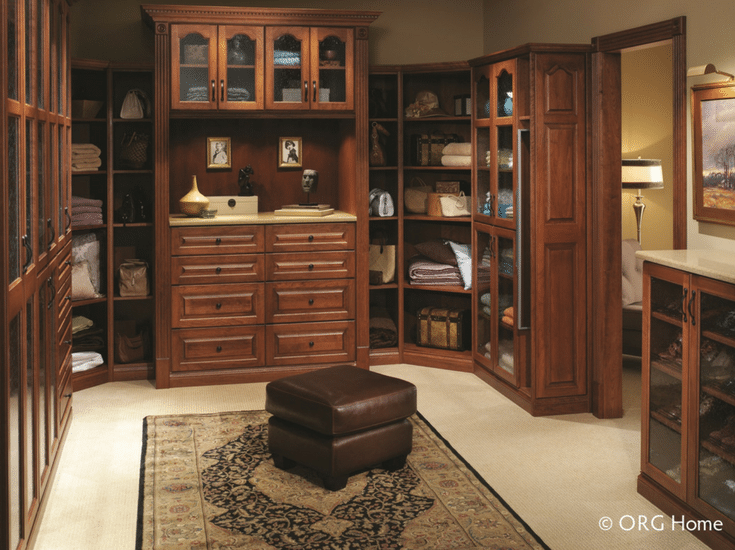 Wood designer closet in an upscale Columbus home | Innovate Home Org