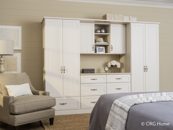 A floor mounted wardrobe closet for inside the bedroom storage - Innovate Home Org Columbus Ohio