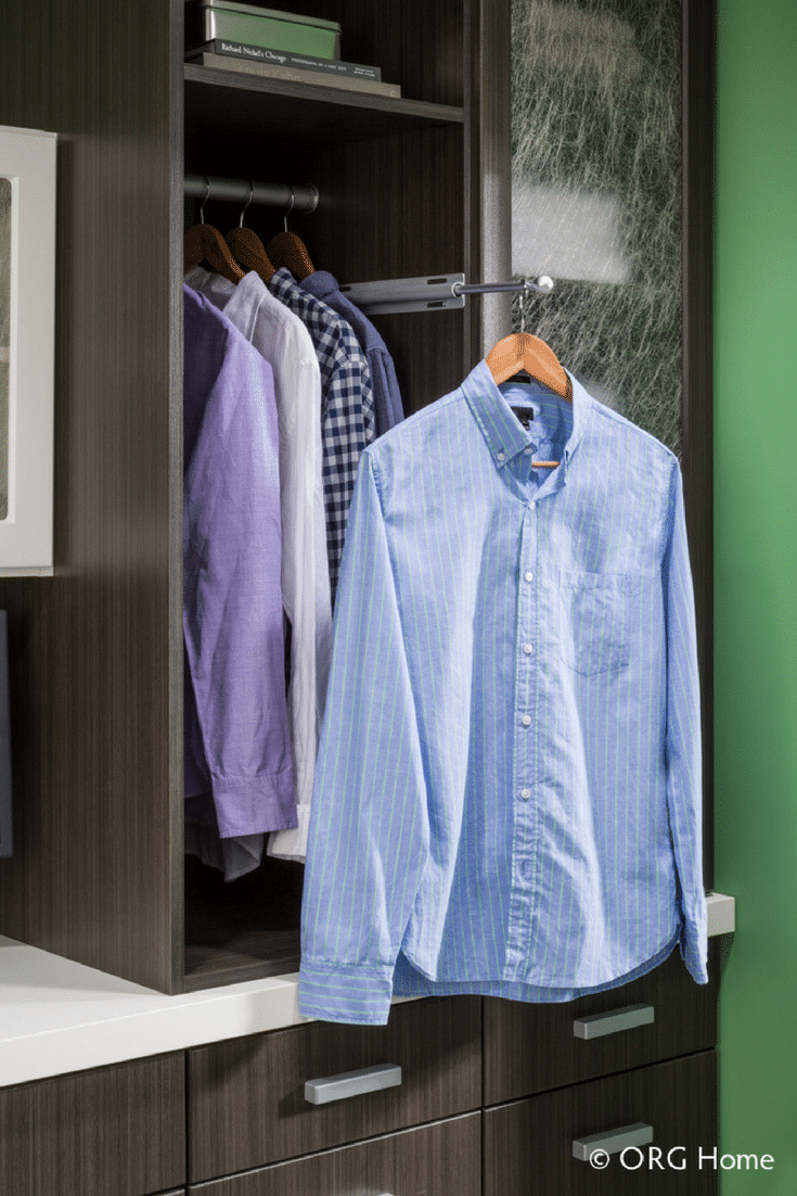 Closet and wardrobe rod in a Columbus laundry room - Innoovate Home Org