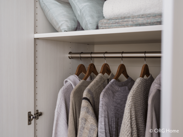 Adjustable shelving in a custom closet organizer system | Innovate Home Org Columbus Ohio