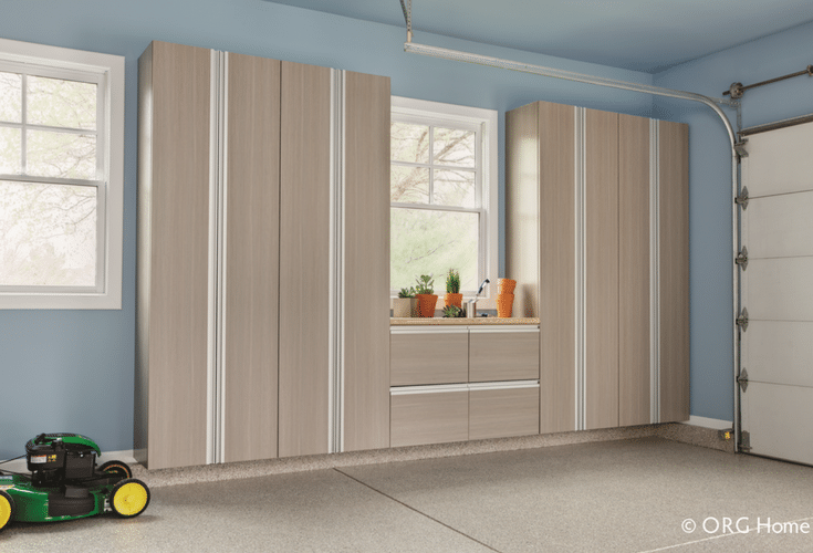 Wall mounted laminate garage storage cabinets in Columbus ohio | Innovate Home Org