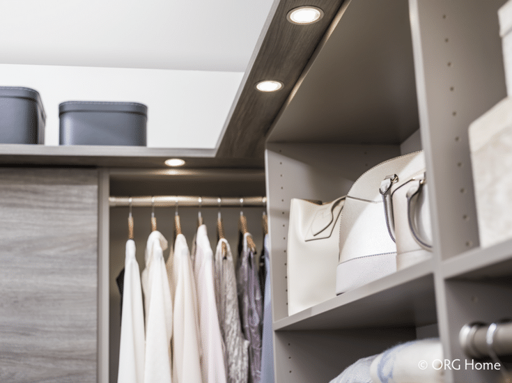 Bedroom closet design with LED lighting for impact | Innovate Home Org Columbus Ohio