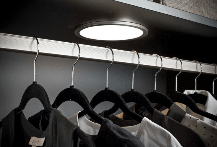 LED lighting can make a world of difference in a custom closet design | Innovate Home Org Columbus Ohio