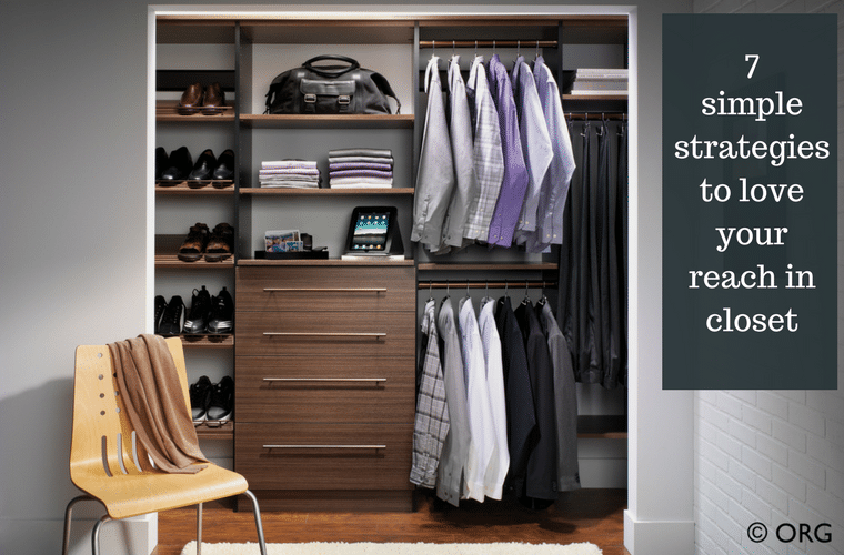 7 simple strategies to love your reach in bedroom closet | Innovate Home Org Columbus Ohio