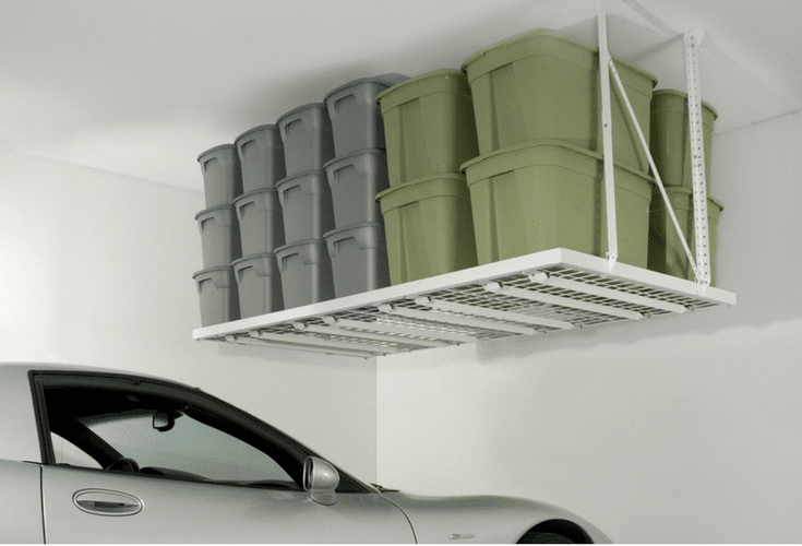 This overhead garage storage unit in a 96 x 48 size can help to create efficient storage when your garage is overflowing. | Innovate Home Org Columbus Ohio