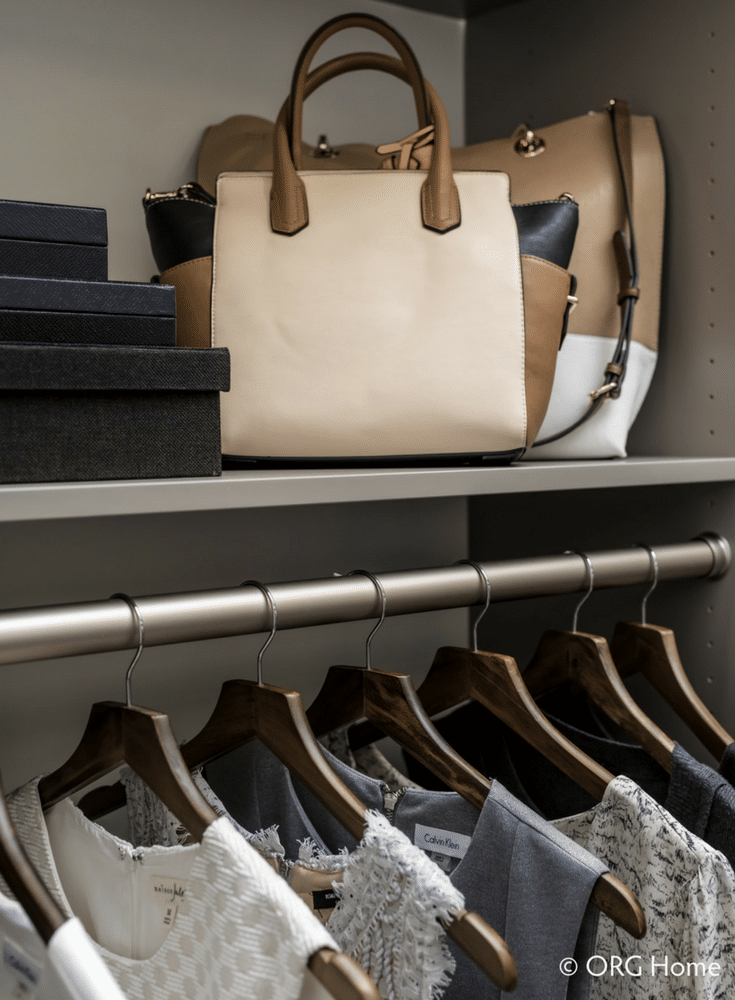 A minimalist open closet design for a clean contemporary look - Innovate Home Org Columbus Ohio