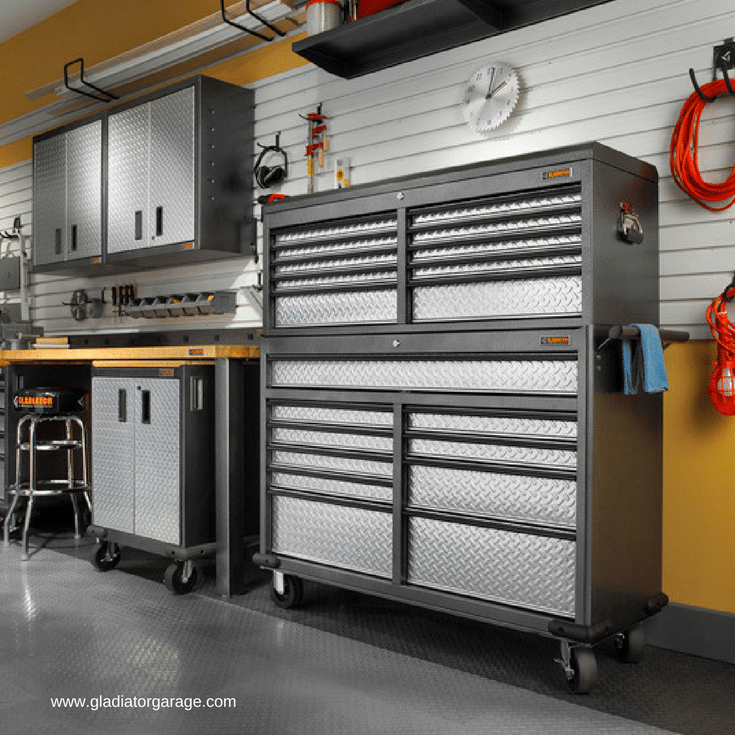 Rolling garage cart storage for convenient access to tools while working on a truck or car | Innovate Home Org Dublin Ohio