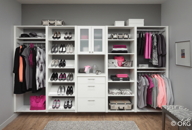 Wall hung closet storage system - Innovate Home Org Columbus Ohio