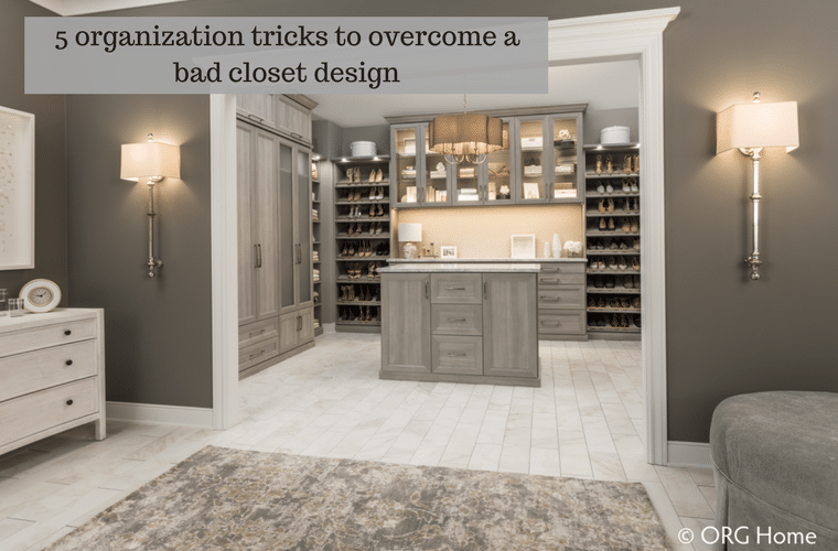 5 organization tricks to overcome a bad closet design | Innovate Home Org Columbus Ohio