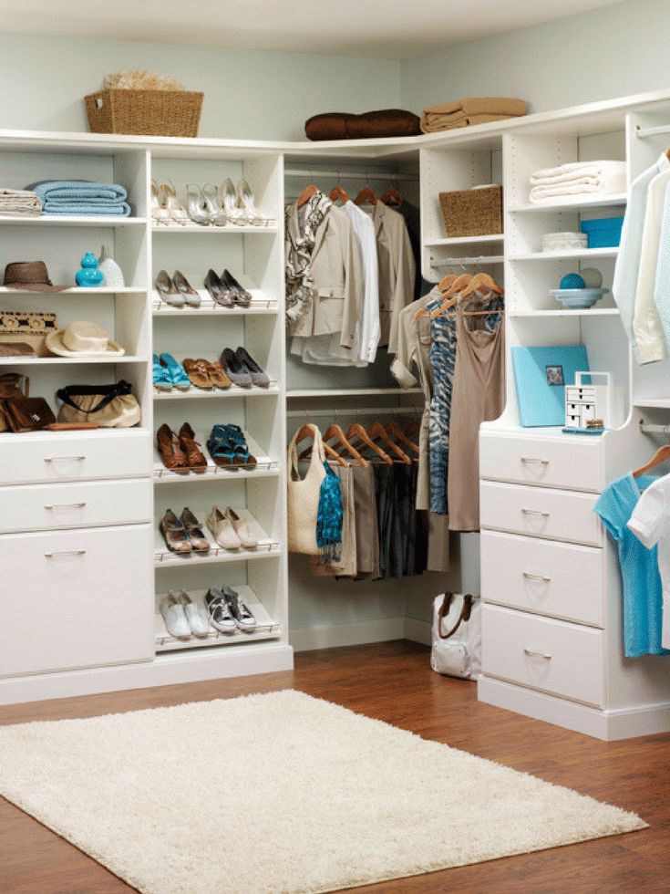 Using drawers to divide a his and hers custom closet in Columbus Ohio | Innovate Home Org