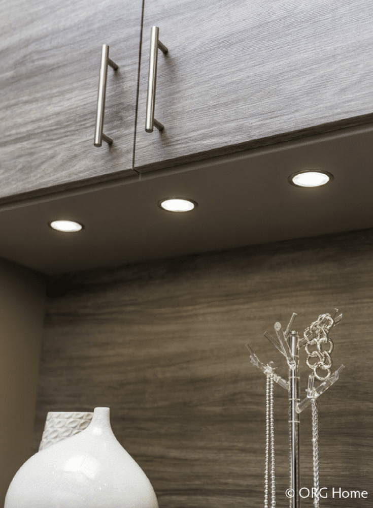 LED lighting on a upper cabinet underside | Innovate Home Org Columbus Ohio